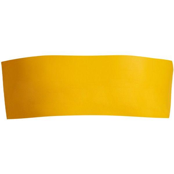 Jade Swim All Around bandeau bikini top (255 BRL) ❤ liked on Polyvore featuring swimwear, bikinis, bikini tops, summer swimwear, yellow bikini top, summer bikini, yellow swimsuit top and yellow bandeau bikini