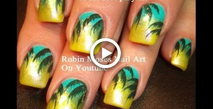 Einfache tropische Palme Nail Design! HOT Summer Nail Art Design Tutorial