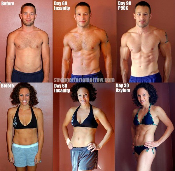 Shaun T Workouts Insanity And Asylum Before After At 60 Days 90 Note The Difference