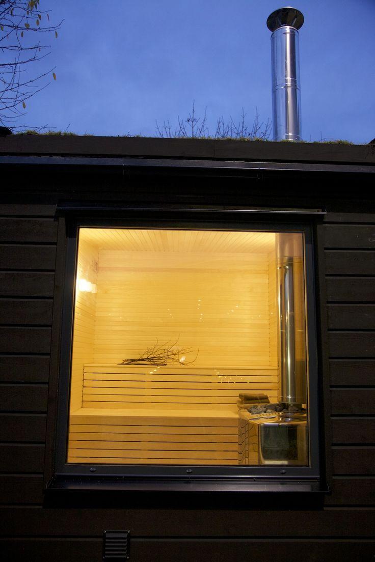 Window of Arjan Modern Small Sauna
