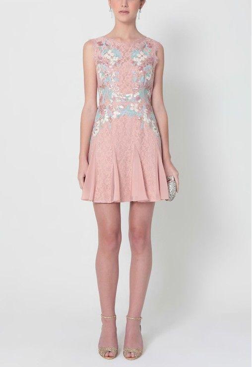 POWERLOOK - Aluguel de Vestidos Online - Vestido Lorena curto de renda bordado BCBG MAXAZRIA - rosa #rosa #lorena #vestidocurto #curto #bordado #rendado  #alugueldevestidos #powerlook #vestidomadrinha #madrinha #vestidocasamento #casamento #vestidofesta #festa #lookcasamento #lookmadrinha #lookfesta #party #glamour #euvoudepowerlook  #dress   #dia  #noite