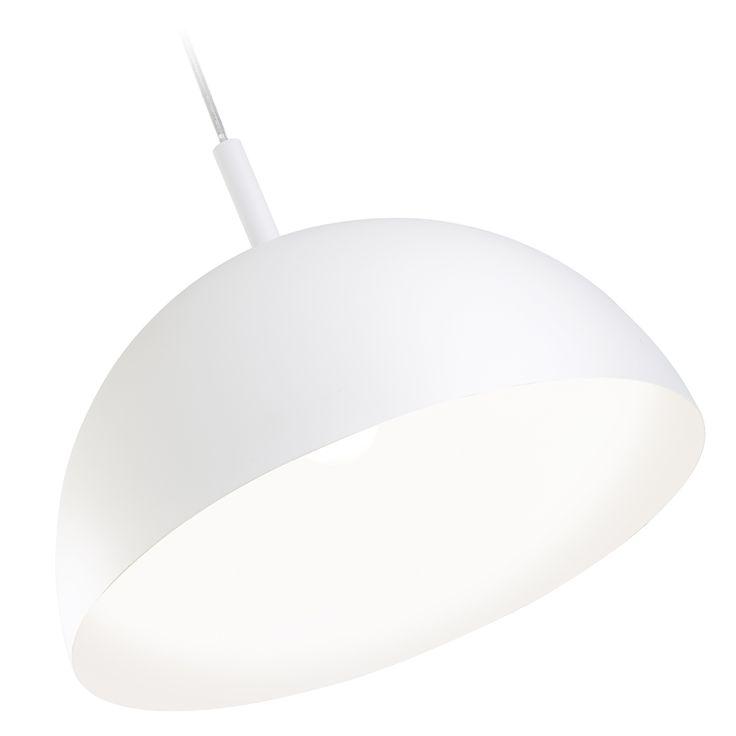 Arlec 60W White Verve Metal Dome Pendant Light