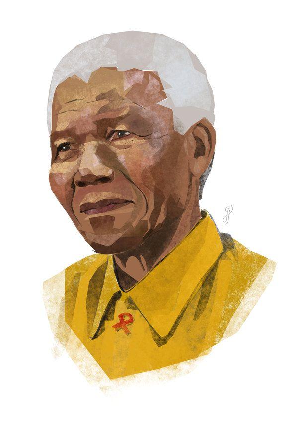 Nelson Mandela portrait by Giuseppe Lucido