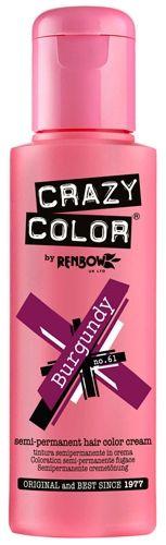 coloration crazy color burgundy teinture auburn cheveux semi permanente pour une - Coloration Permanente Rose