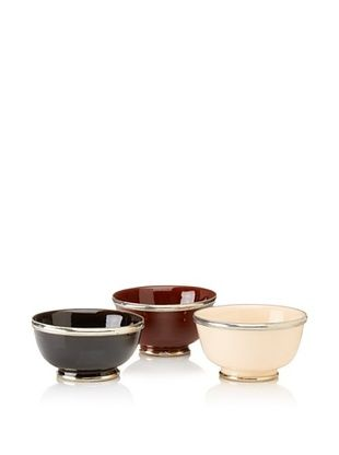 70% OFF Found Objects Set of 3 Assorted Bowls, Brown/Black/Cream