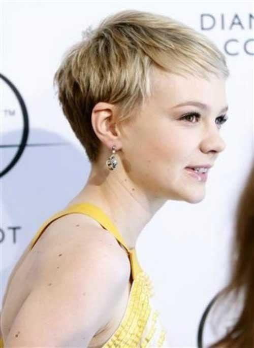 Carey Mulligan Blonde Pixie Haircut Idea