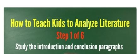 How to Teach Kids to Analyze Literature - Step 1 of 6!
