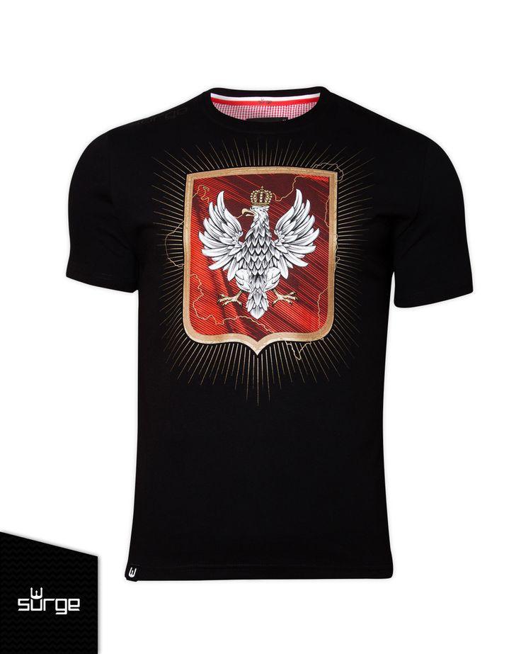 Koszulka patriotyczna Herb II RP  | KOSZULKI \ KRÓTKI RĘKAW | Sklep z koszulkami Polski i odzieżą patriotyczną ● Przepnij Pina! Pomóż nam promować ideę nowoczesnego patriotyzmu. SurgePolonia