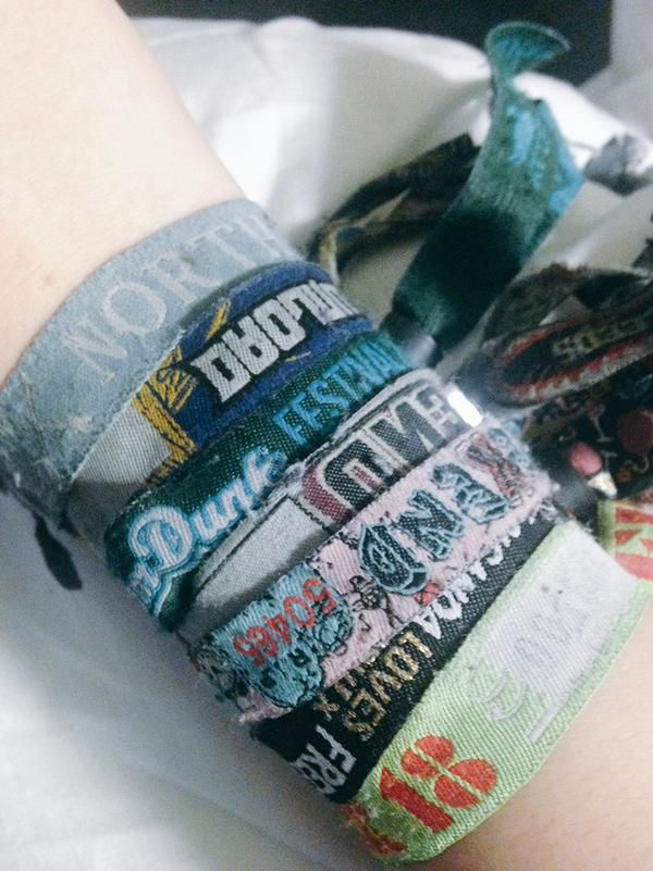 Collecting festival wristbands is what its all about.
