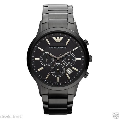 62% discount on Authentic Emporio Armani AR-2453, Full Black Steel Mens Chronograph Watch http://www.shopping-offers.in/fashion/watch-deals/authentic-emporio-armani-ar-2453-full-black-steel-mens-chronograph-watch/