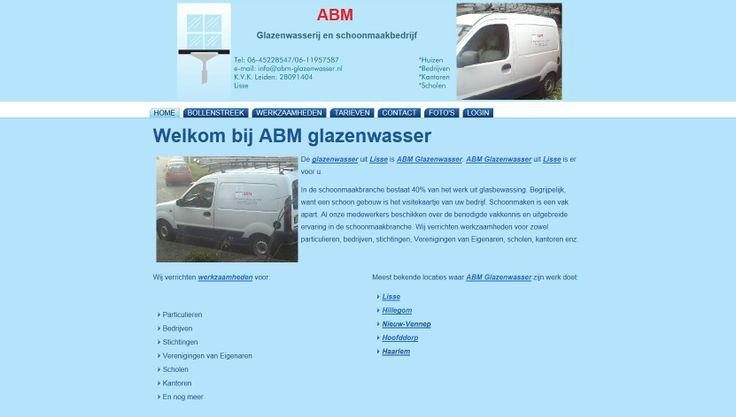 ABM-Glazenwasser.nl create by Wveen.com Webdesign & Hosting