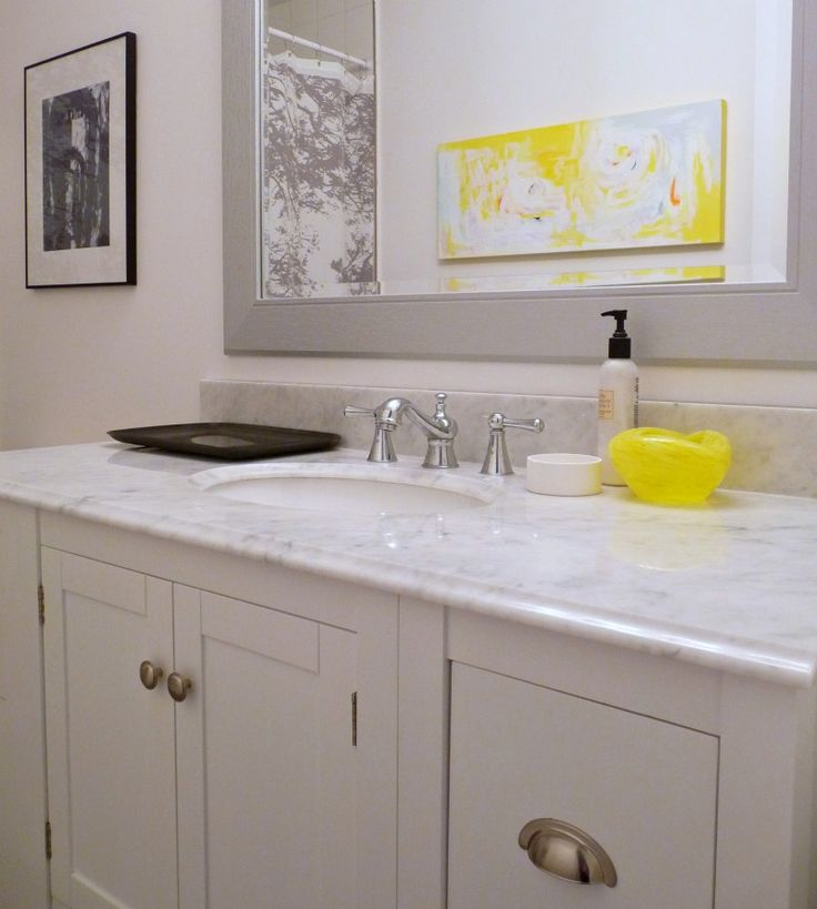 197 best gray yellow bathroom ideas images on pinterest for Grey and white bathroom decor