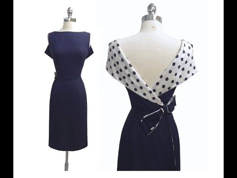 Платье в стиле ретро. Моделируем. - YouTube