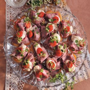 Roast Beef and Horseradish Canape #Starter #Recipe #Beef #SouthAfrica