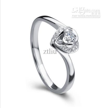 Awesome k white gold diamond wedding engagement rings women size selectable clarity SI very niceXTR