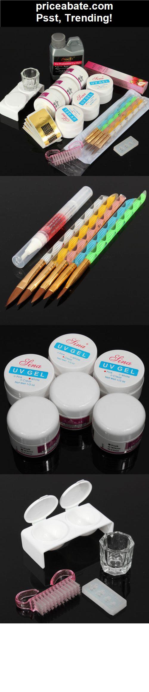 Pro Nail Art Kit Acrylic Starter  Powder Liquid UV GEL Brush Tips Manicure Tool - #priceabate! BUY IT NOW ONLY $12.82