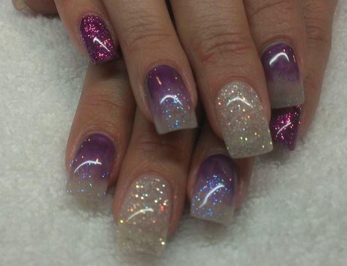 Acrylic nails by Loni at Delonnie's Hair and Nail Studio