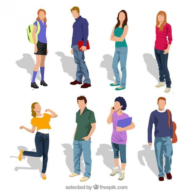 Étudiants Adolescent Vecteur gratuit