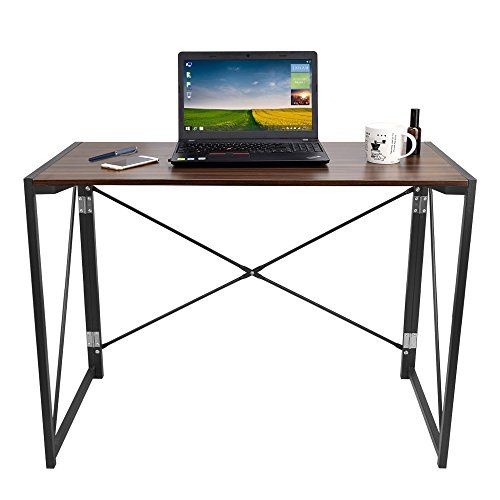 Dripex Folding Desk Wooden Top Foldable Study Table Folding Office Computer Desk 100 × 48 × 75 cm and 250 lb Load Capacity---40.99---