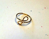 Gold Infinity Wire Ring $5 - Etsy