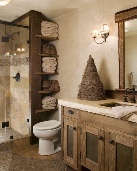Evinizin banyosu mu yoksa bir spa merkezi mi? Doğal renklerin hakim olduğu, çok güzel bir banyo dekorasyonu  #dekorasyon #banyo