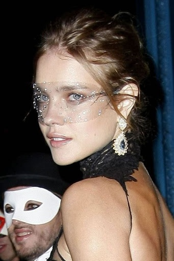 At the Vogue Paris 90th years Anniversary Masquerade Ball.