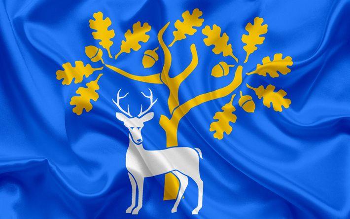Scarica sfondi Contea di Berkshire Bandiera, Inghilterra, bandiere delle contee inglesi, Bandiera del Berkshire, British Contea di Bandiere, di seta, bandiera, Berkshire