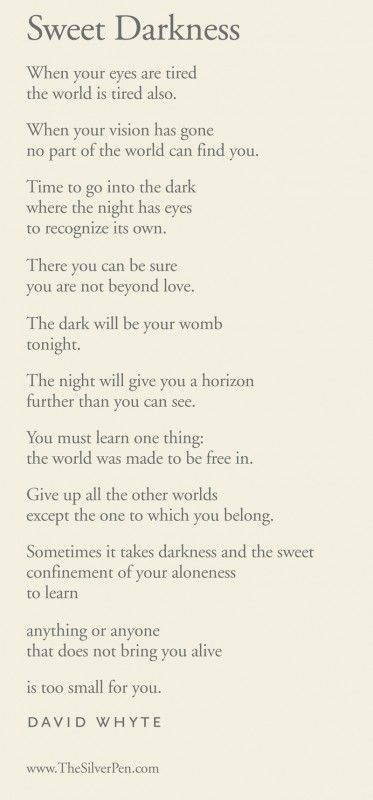 This poem came to me at the precise moment that I needed it!