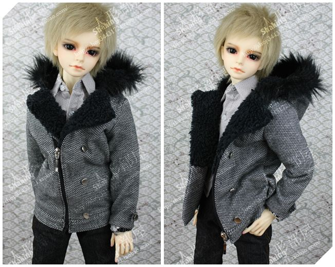 [BJD / LUTS / SD / DZ / DOD] ← → humanoid Heya hooded coat fur collar (multicolor into) - Taobao