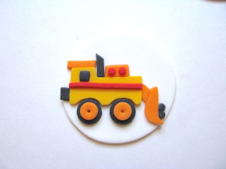 Construction Theme Fondant Cupcake Toppers - Your Cupcake Story