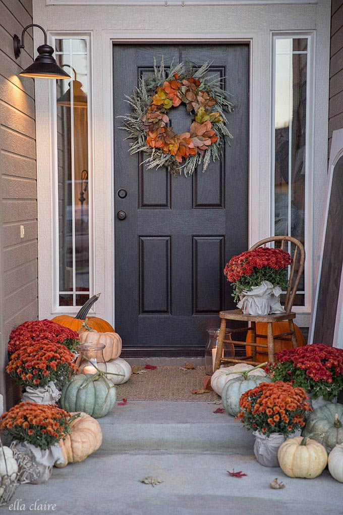 Imaginative Fall Porch Decorating Ideas To Make Yours Unforgettable Fall Outdoor Decor Fall Decorations Porch Fall Front Porch Decor