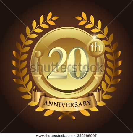 20th golden anniversary wreath ribbon logo - stock vector  #wreath #years #business #vector #sign #wheat #celebration #element #black #imperial #design #birthday #wedding #golden, #vintage #background #royal #year #advertisement #ceremony #medal #corporate #anniversary #success #template #luxury #event #emblem #modern #icon #certificate #age #gold #ad #badge #congratulation #classic #five #celebrating #laurel #happy #ribbon #5