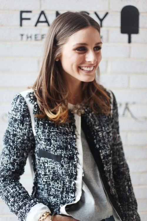 I'm not normally a fan of a middle-part, but Olivia Palermo gets it right.