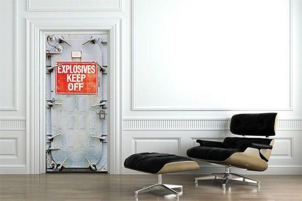 Sticker Porte Design Danger Explosif by Izoa