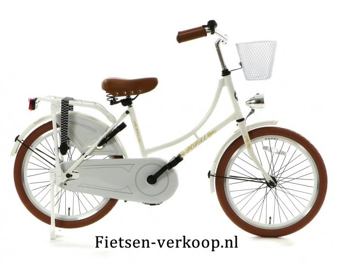 Omafiets parelmoer Wit 20 Inch | bestel gemakkelijk online op Fietsen-verkoop.nl