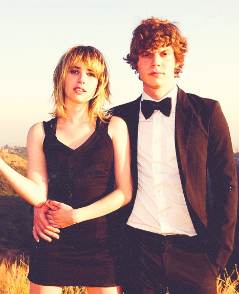 {Tyler Shields  Evan Peters and Emma Roberts