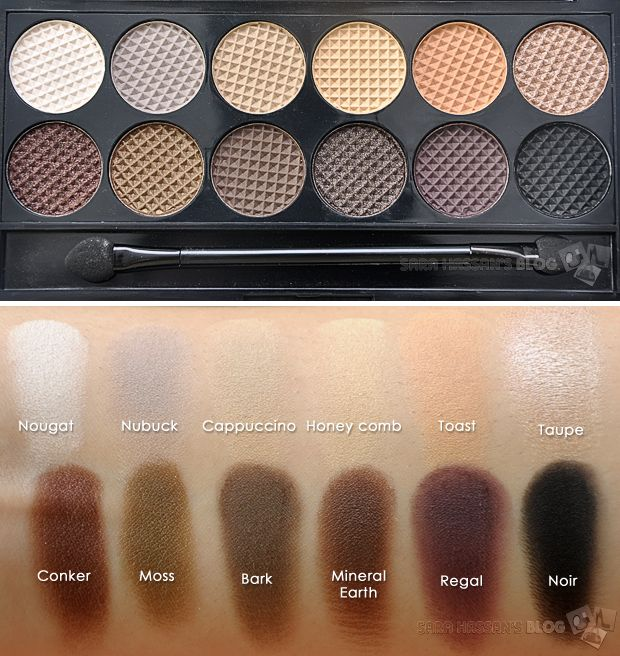Sleek MakeUP Au Naturel Palette - Review & swatches