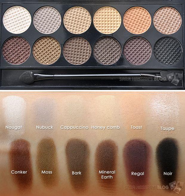 Sleek MakeUP Au Naturel Palette - Review & swatches