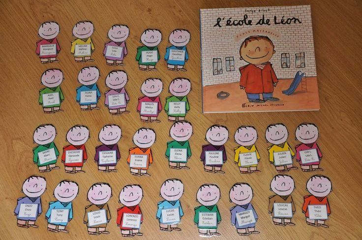 Etiquettes de presence avec le personnage du livre l'école de Léon