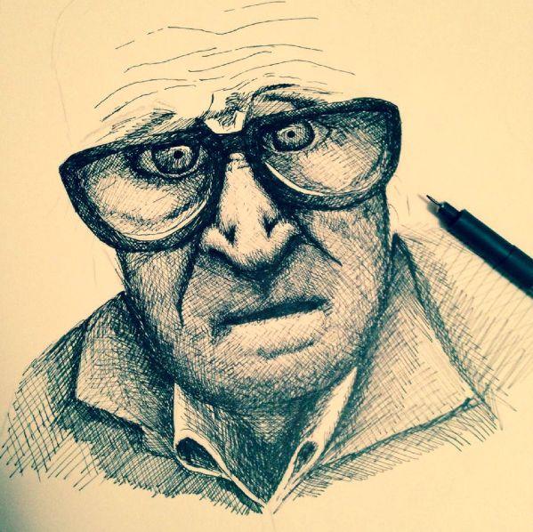 OldMan : 2014 / Staedtler on Paper / S.Tusseau