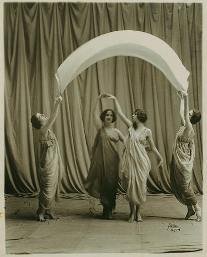 """Isadora Duncan's dance company of women were known as """"The Isadorables""""..."""