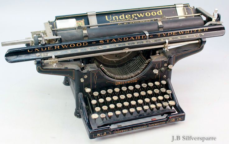 Min nya skrivmaskin - En Underwood no. 3 från 1919 - J.B Silfversparre