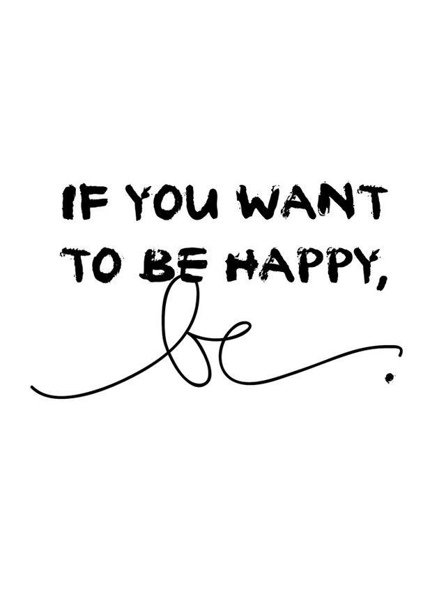 Si quieres ser feliz, SE.