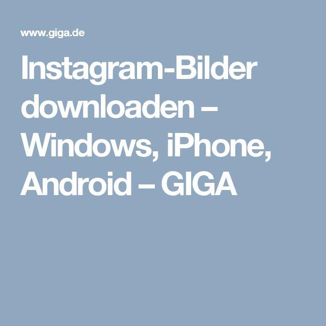 Instagram-Bilder downloaden – Windows, iPhone, Android – GIGA