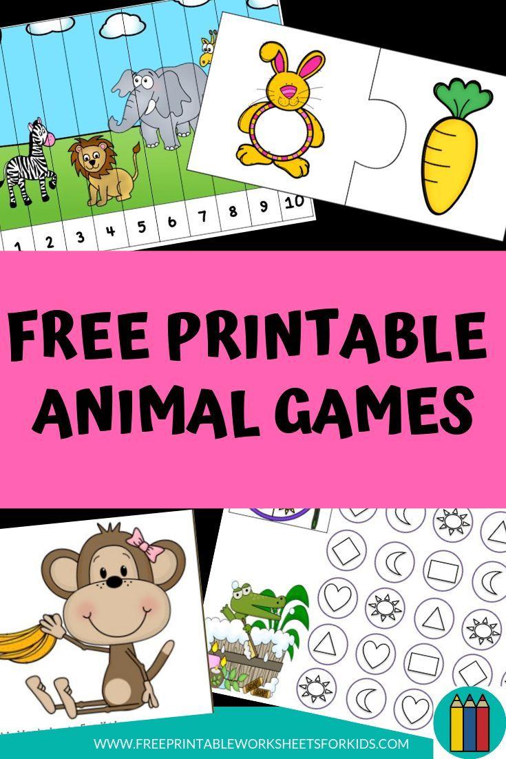 Free Printable Animal Worksheets And Games For Kids Preschool Kindergarten Animal Kids Worksheets Printables Animal Activities For Kids Printables Free Kids [ 1102 x 735 Pixel ]