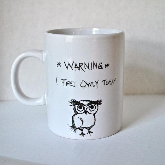 Owl - Ceramic Coffee #owl #mug #ceramics