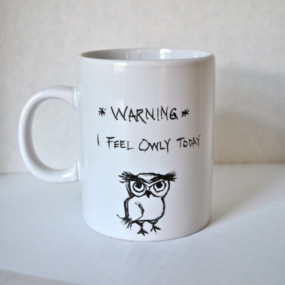 Owl - Ceramic Coffee #owl #mug #ceramics