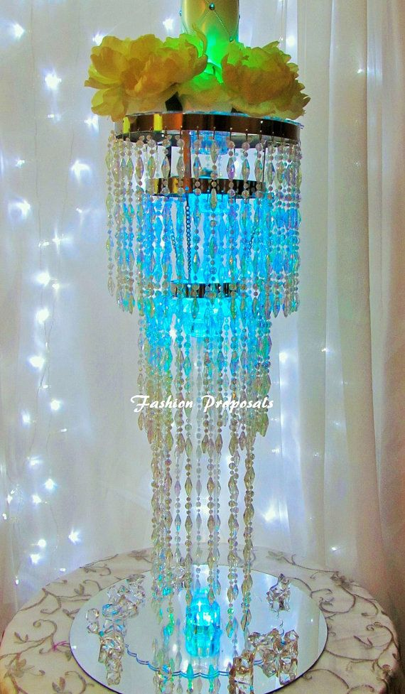 10 table top chandelier wedding centerpiece 3 by for Chandelier centre de table
