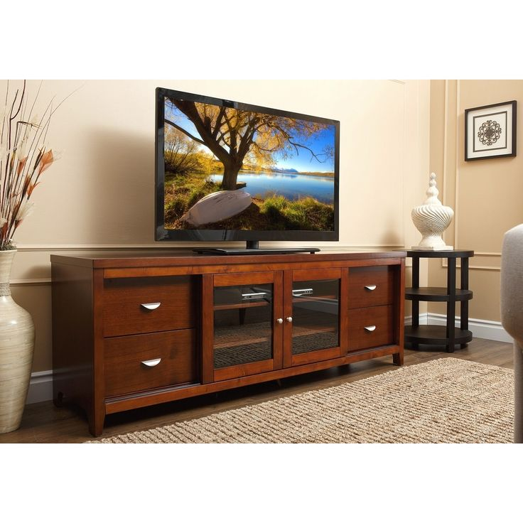 Abbyson Living 72-inch Walnut Wood TV Console - Overstock™ Shopping - Great Deals on Abbyson Living Entertainment Centers
