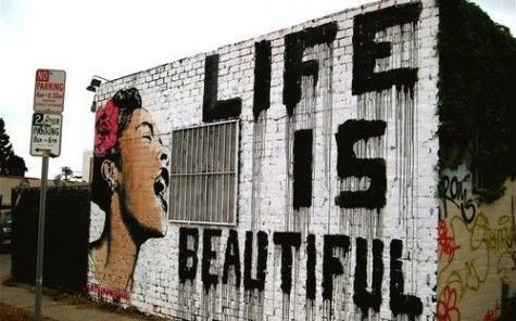 life is beautiful: Wall Art, Concrete Art, Billy Holidays, Life Is Beautiful, Graffiti, Street Art, Artsy Fartsi, Art Wall, Streetart